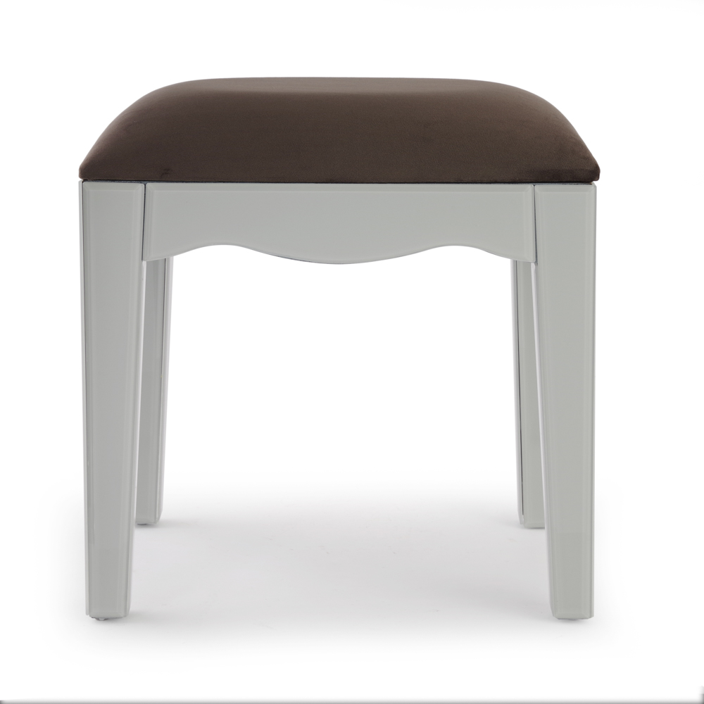 Madison Grey Glass Dressing Table Stool