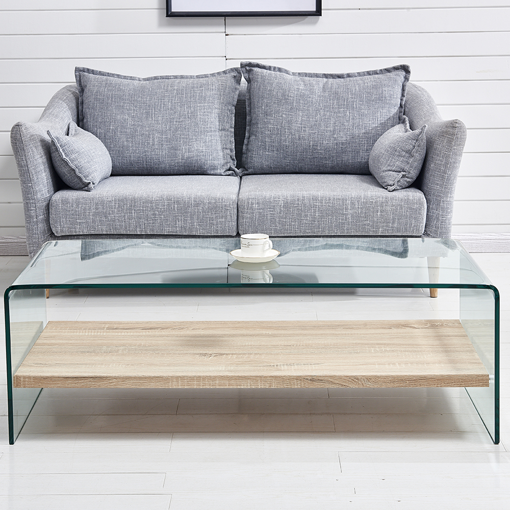 Minimalist Style Tempered Glass Coffee Table