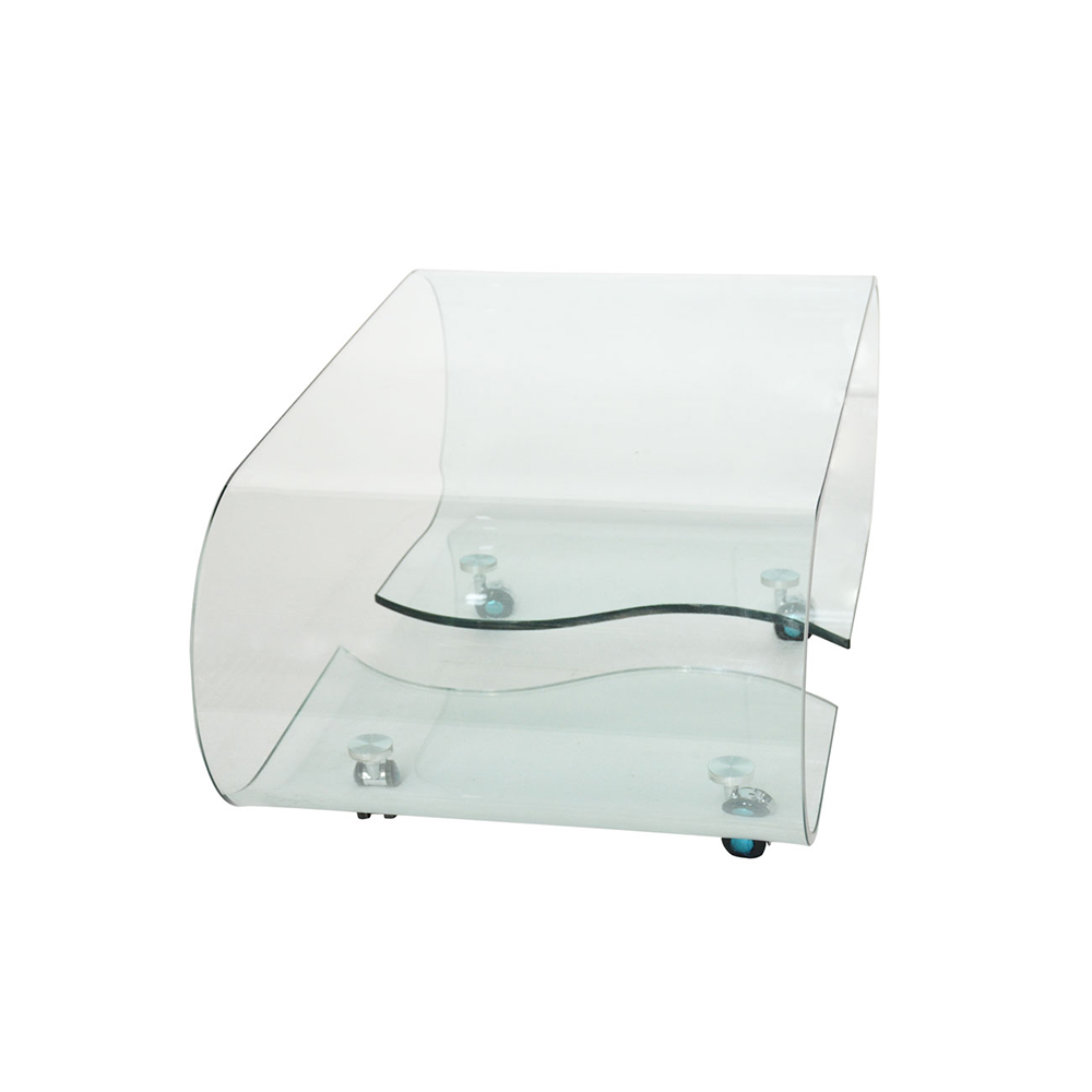 Tempered Glass Side Table & Magazine Holder