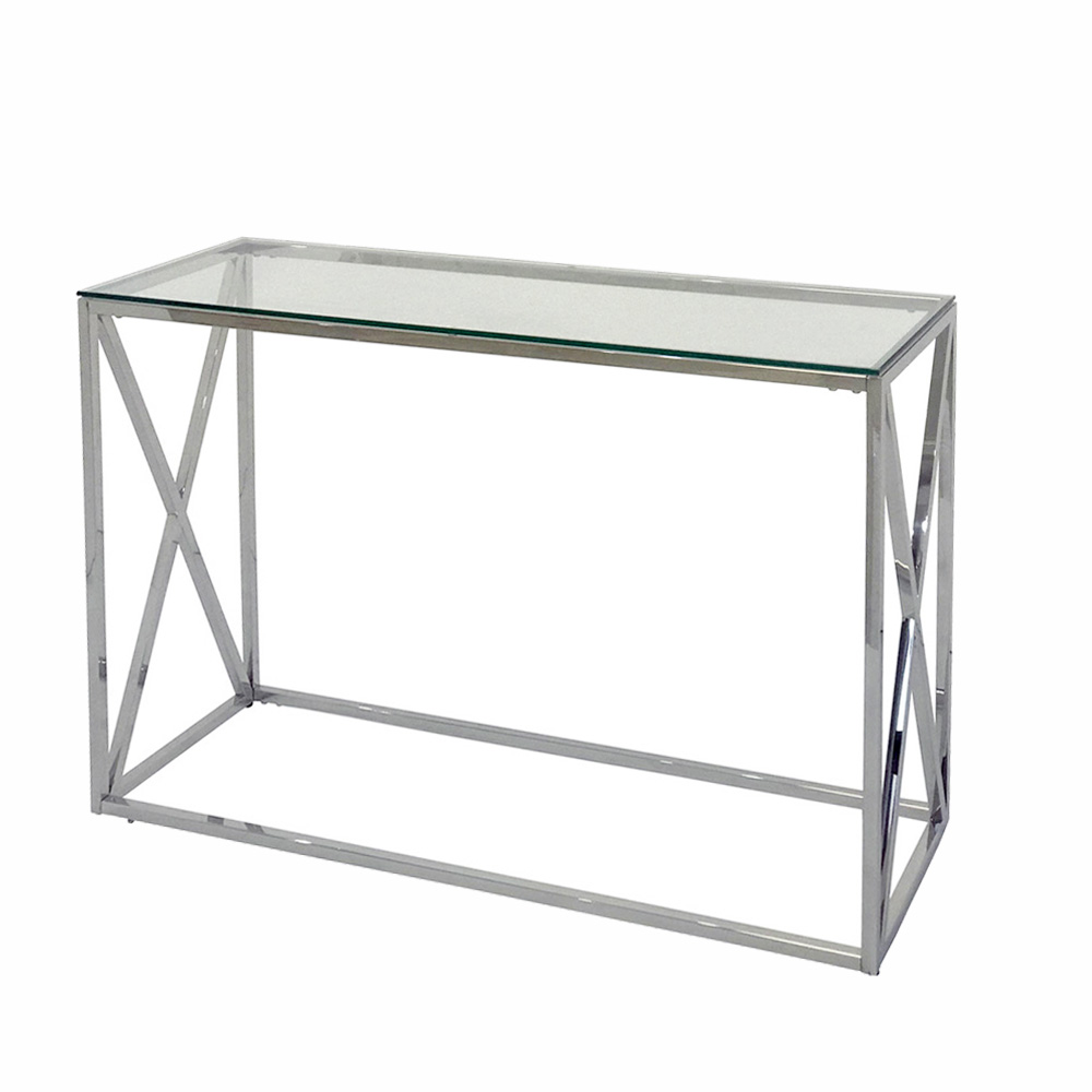 Eclipse Range Silver Console Table