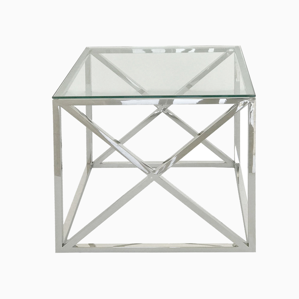 Eclipse Range Silver Side Table