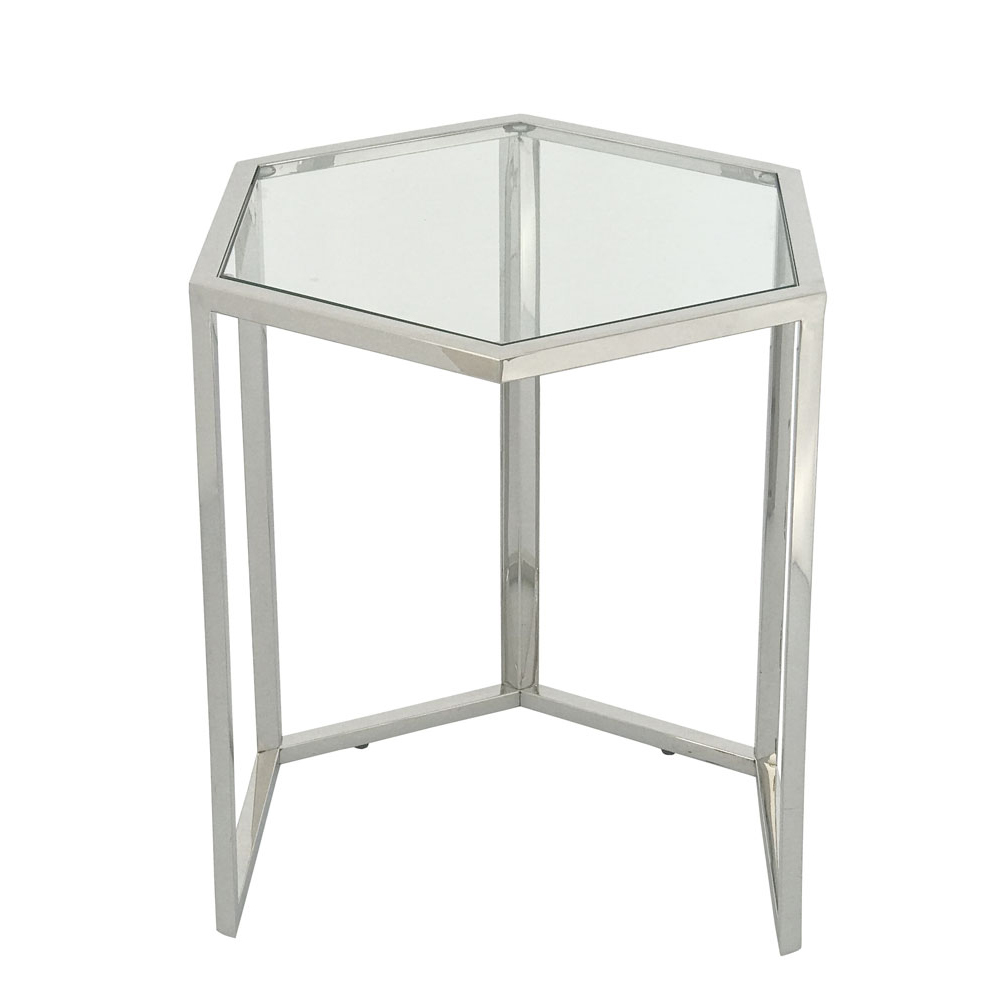 Eclipse Range Silver Hexagon Nest of Tables (3/S)